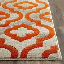 orange grey and white rug orange and grey rug light gray orange area rug grey orange