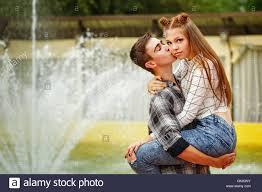 Boy holding a girl