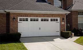 recessed carriage panel door white with windows
