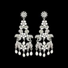 chandelier diamante wedding earrings