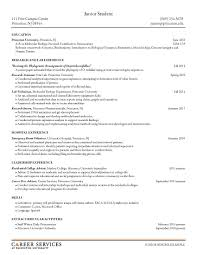 Sample Resumes Junior Student Career Services Resume Cv Advice