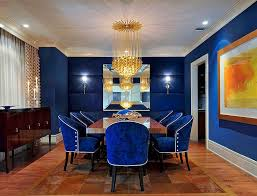 Small Picture Dining Room Brilliant Along With Stunning Royal Blue Chairs Regard