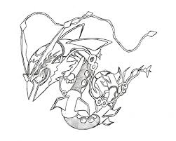 Pokemon Rayquaza Drawing At Getdrawingscom Free For Personal Use