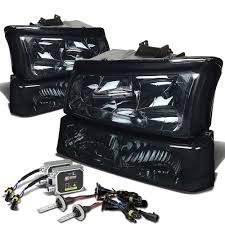 Smoke housing clear signal headlight+12000k hid kit for 03-06 ...