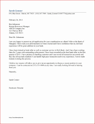 Fresh Application Letter For Job In Bank Type Of Resume