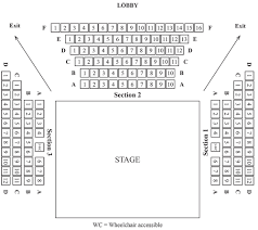 Act Theatre Seating Chart Seating Chart Next Act Theatre