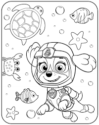 Coloring Pages Paw Patrol Coloring Pages Free Printable Let It