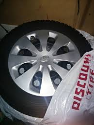 For Sale - Prius C set of OEM 15 inch steel wheels with winter ...