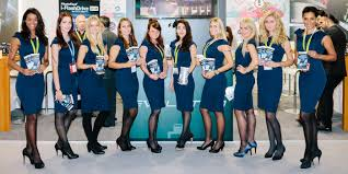model hostesses in for your exhibition or event chefhostess patricia 9 modelhostesses at the ifa in berlin all hostesses received a uniform from instaff for all 6 days