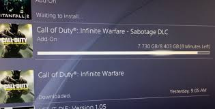 cod infinite warfare install size cod iw sabotage dlc 1 download with file size danger product