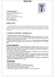 Power Plant Mechanical Engineer Resumes 2 Years Experience Mechanical Engineer Resume Radame