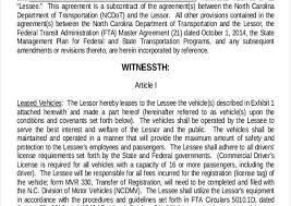 Truck Leasing Template. House Rent Agreement Letter Sample New One ...