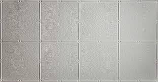 Pattern 310 White 2x4 Faux Tin Ceiling Tile Pattern