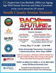 12th Annual Orange County Senior Summit At Aging2 0 Orange