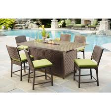 hampton bay stream 7 piece balcony high patio dining set