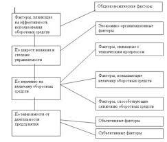 Дипломная работа Управление внеоборотными и оборотными активами  На эффективность использования оборотных средств торговых предприятий действуют множество факторов нередко в противоположных направлениях рис 7