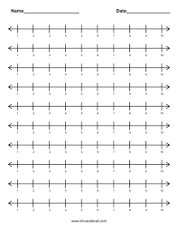 number templates 1 10 excel number line worksheets templates template word for fractions