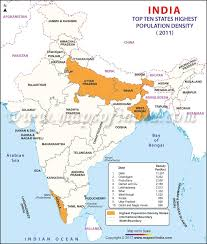 Population Chart Of Indian States Top 10 Indian States With Highest Population Density