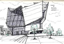 architectural buildings sketches. Delighful Buildings Modern Style Architectural Buildings Sketches With Architecture Sketch UFA  Cinema In Dresden Germany By Vernelle N