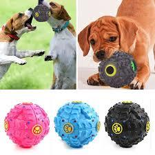 giggle ball pet dog sound chew treat holder toy food dispenser