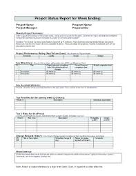 Monthly Work Report Template Mesmerizing It Management Report Template Program Reporting One Page Project