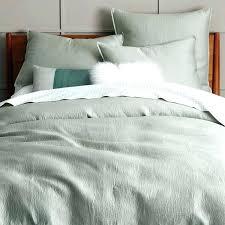 white pintuck duvet cover duvet cover west elm organic cotton