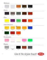 Krylon Color Chart 1995 Krylon Color Chart Page 2 Slyle133 Flickr