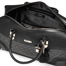 Lyst - River island Black Quilted Pom Pom Weekend Bag in Black & Gallery Adamdwight.com