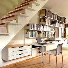 hanging shelf desk modern home office with desk under stairs design ideas white desk storage hanging hanging shelf desk