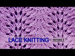 feather patterns feather and fan lace knitting pattern 3 youtube