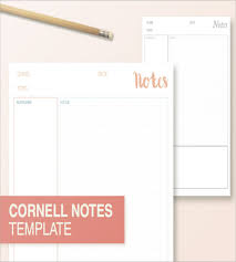 Notes Template Printable Cornell Notes Printable Magdalene Project Org