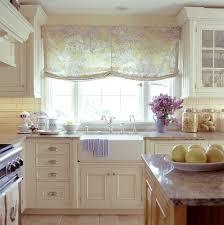 Kitchen:Retro British Kitchen With Floral Drapes And Apron Sink Retro  British Kitchen With Floral