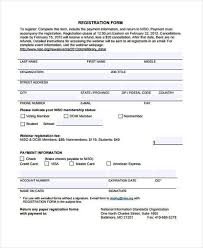 printable registration form template printable registration form template 10 printable registration