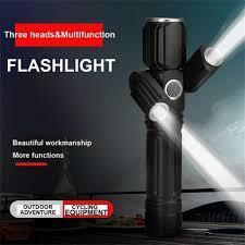 Bicycle <b>Light</b> Front Three Lamp Head Aircraft Shape Flashlight ...