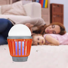 Enkeeo Portable Camping Light Bulb Usb Charging Led Mosquito Killer Lamp Waterproof Repellant Pest Insect Mosquito Killer