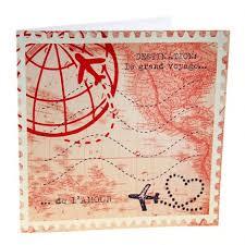 Carte Dinvitation De Mariage Voyage Vintage