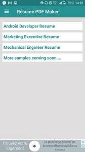 Free Resume Builder Pdf Formats Cv Maker Templates Apk Download ...