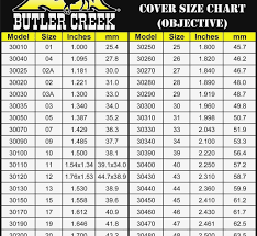 Butler Creek Scope Cover Chart Leupold Butler Creek Sizing