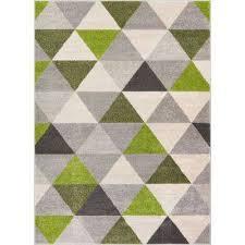 mystic alvin modern geometric green 3 ft x 5 ft