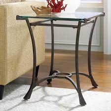 Round Glass And Metal End Tables