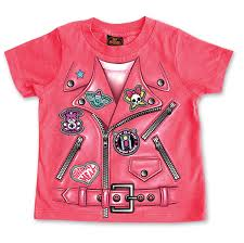hot leathers girl s leather jacket hot pink t shirt