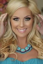 blonde hair and blue eyes enement wedding enement makeup and eye