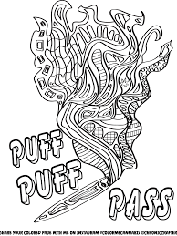 Sizable Cannabis Coloring Book Pages Free Color Me Page By Chronic