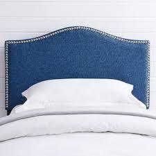 blue upholstered headboard. Brilliant Blue Unger Upholstered Panel Headboard In Blue D