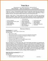 Retail Management Resume Skills Examples Executive Template Cv Uk