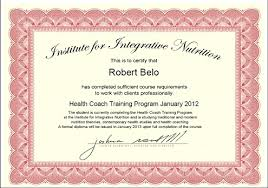 coach robert belo has reached a milestone in his health coaching curriculum at the insute for integrative nutrition
