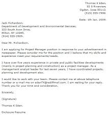 Gallery Of Project Manager Cover Letter Examples Cover Letter Now