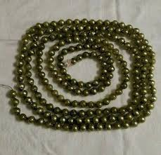vintage green mercury glass bead tree garland plastic