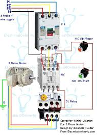 single phase motor starter dolgular com 3 phase electric motor starter wiring diagram at Magnetic Motor Starter Wiring Diagram