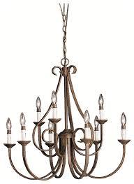 kichler dover tannery bronze 9 light chandelier